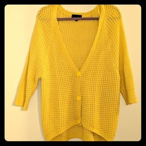 Takeout sz M shimmer yellow cardigan